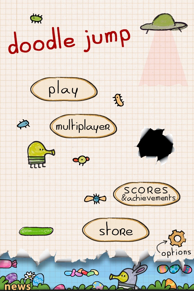 Doodle jump review iphone ios universe