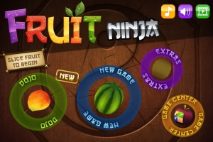 Fruit Ninja Title Screen