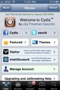 Cydia Home Screen