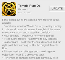 Temple Run Oz Update